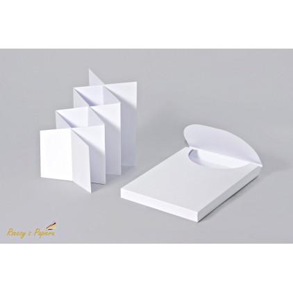 Pudełko pełne + baza do kartki kaskadowa/ harmonijka w kolorze białym