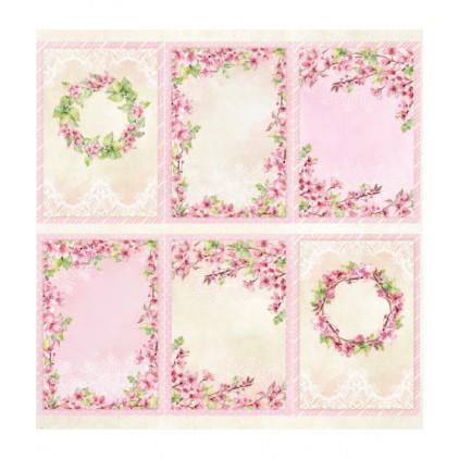 Scrapbooking paper 30 x 30 cm - cover - Pink blossom - ScrapAndMe