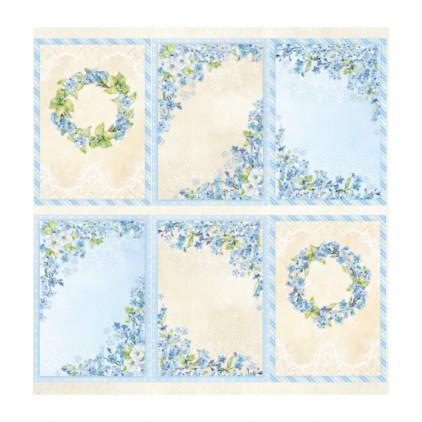 Scrapbooking paper 30 x 30 cm- cover - Blossom Blue - ScrapAndMe