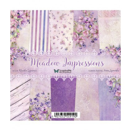 Set of papers 15 x 15 cm  - Meadow Impressions - ScrapAndMe