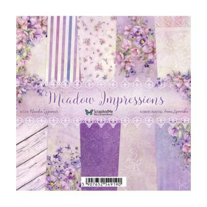 Zestaw papierów 15 x 15 cm  - Meadow Impressions - ScrapAndMe