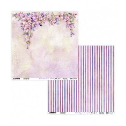 Scrapbooking paper 30 x 30 cm -Meadow Impressions 01/02 - ScrapAndMe