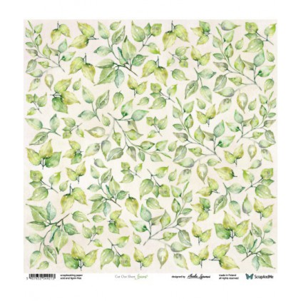 Scrapbooking paper 30 x 30 cm - leaves -Meadow Impressions 09/10 - ScrapAndMe