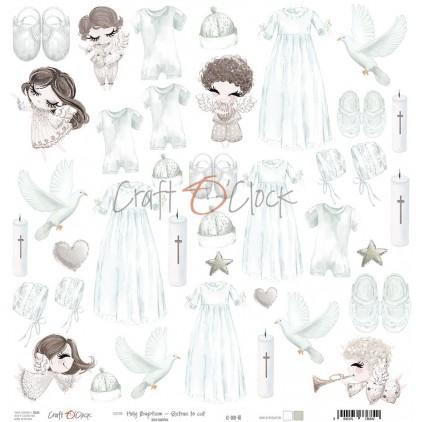 Papier do tworzenia kartek i scrapbookingu - Craft O Clock - Holy Baptism
