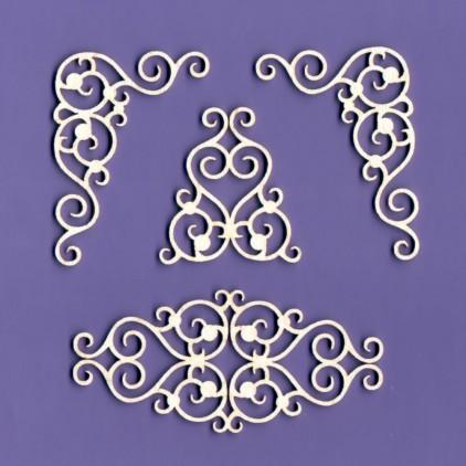 108 - tekturka ornamenty zestaw 7 - Crafty Moly