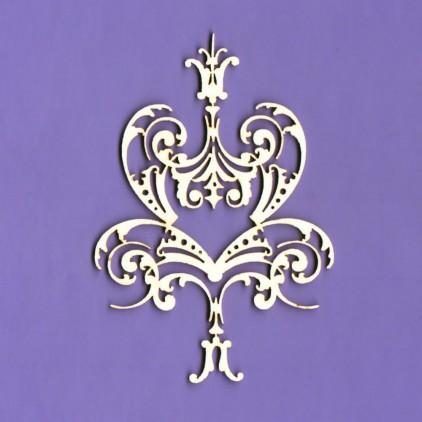 1366 - laser cut, chipboard ornament Royall 16 - Crafty Moly