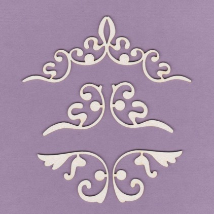 678 - tekturka ornamenty - zestaw - Crafty Moly