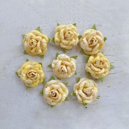 CR55684 scrapbooking flowers - Angie Rose Lemon - Little Birdie -