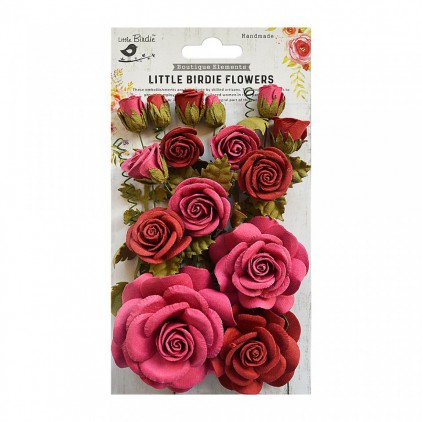 CR69302 scrapbooking flowers - Rosalind Candy Mix - Little Birdie -
