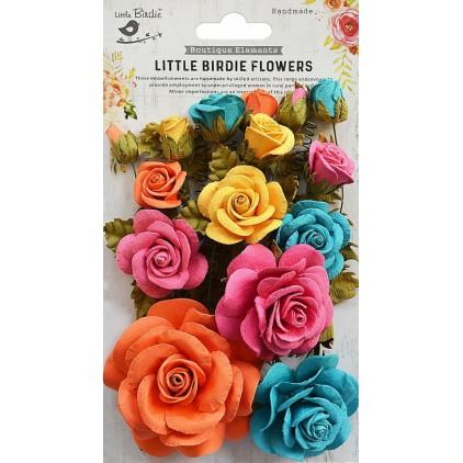CR69301 scrapbooking flowers - Rosalind Vivid Palette - Little Birdie -