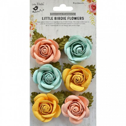 CR69327 scrapbooking flowers - Little Birdie - Sharon Pastel Palette