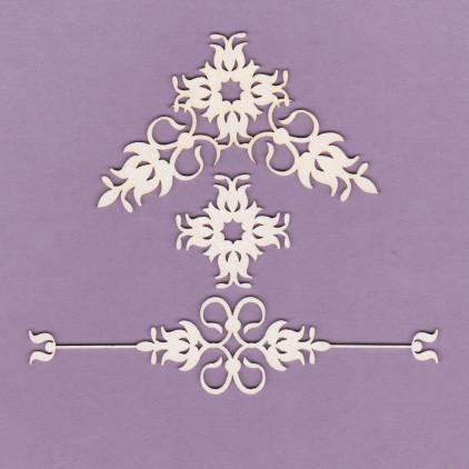 837 - laser cut, chipboard ornaments set 5 - Crafty Moly