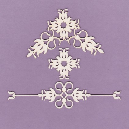 837 - tekturka ornamenty - zestaw 5 - Crafty Moly