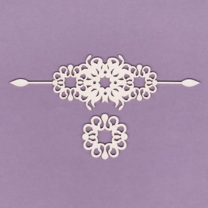 834 - laser cut, chipboard ornaments set 2 - Crafty Moly
