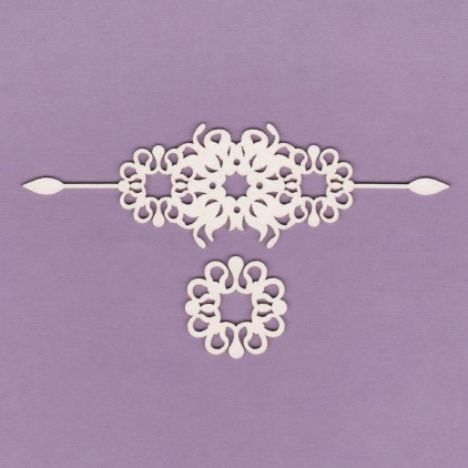 834 - tekturka Ornamenty - zestaw 2 - Crafty Moly