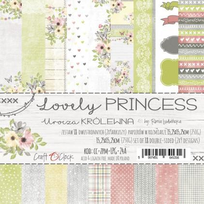 CC-ZPM-LPG-24A -Zestaw papierów 15 x 15 cm - Lovely Princess - Craft O clock