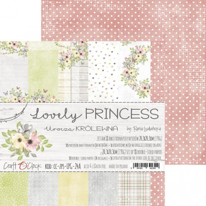 CC-ZPS-SPG-24A -Zestaw papierów 20 x 20 cm - Lovely Princess - Craft O clock