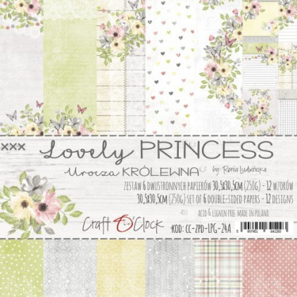 CC-ZPD-LPG-24A Set of papers 30 x 30 cm - Lovely Princess - Craft O clock