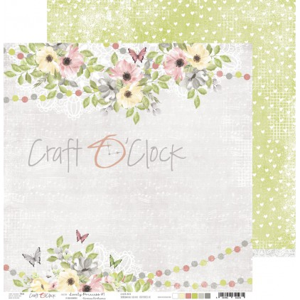 CC-PD-LPG-24A-01 Papier scrapowy 30 x 30 cm - Lovely Princess 1 - Craft O clock