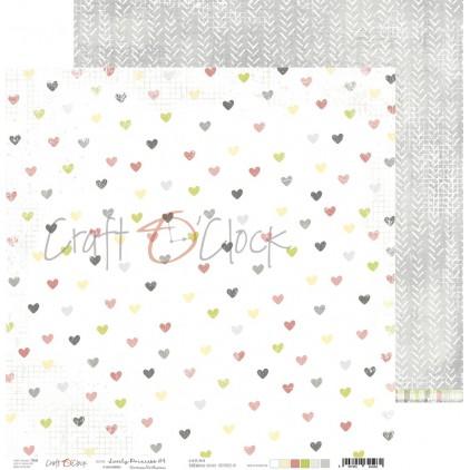 CC-PD-LPG-24A-04 Scrapbooking paper 30 x 30 cm - Lovely Princess 4 - Craft O clock