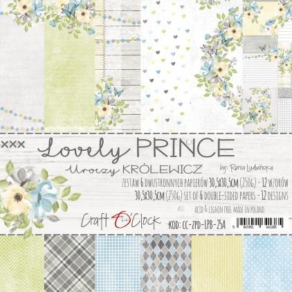 CC-ZPD-LPB-25A -Zestaw papierów 30 x 30 cm - Lovely Prince- Craft O clock