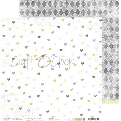 CC-PD-LPB-24A-04 Scrapbooking paper 30 x 30 cm - Lovely Prince 4 - Craft O clock