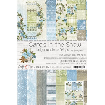 CC-ZPA4-CTS-27 Set of papers A4 20,3 x 30,5 cm - Carols in the snow- Craft O clock