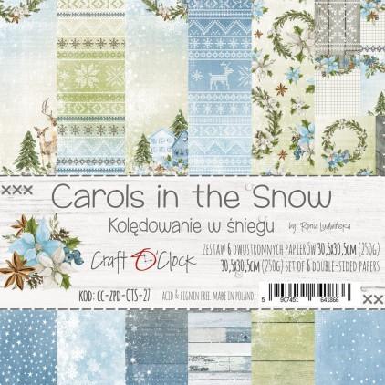 CC-ZPD-CTS-27 -Zestaw papierów 30 x 30 cm - Carols in the snow- Craft O clock