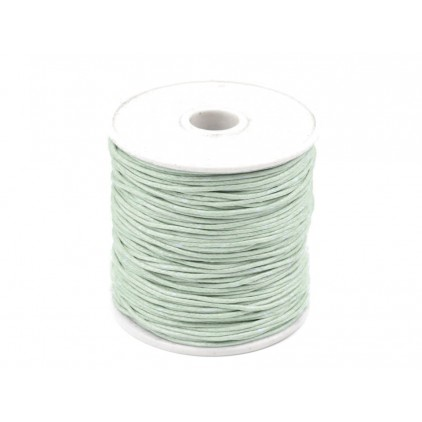 Cotton Waxed Cord - Ø1mm - one spool - bright patina