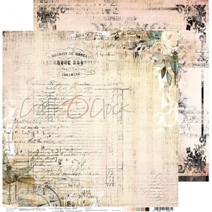 CC-PD-VB-F3-05 Scrapbooking paper 30 x 30 cm - Vintage Bisou 05 - Craft O clock