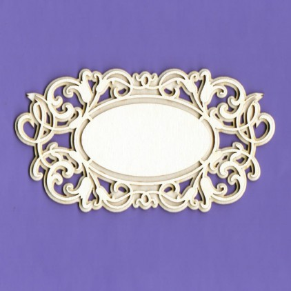 1283 - laser cut, chipboard frame double layer 4 - Crafty Moly