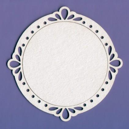 1268 - laser cut, chipboard frame Weloe - Crafty Moly