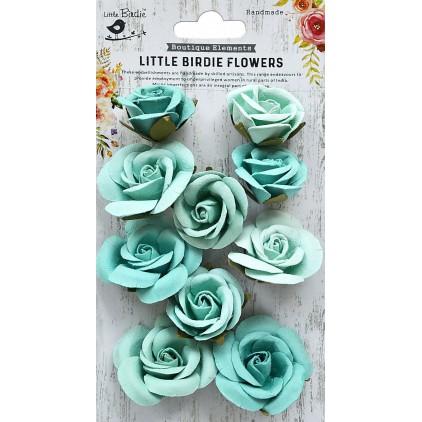 CR79341- kwiatki papierowe - Little Birdie - Joanna Arctic Ice