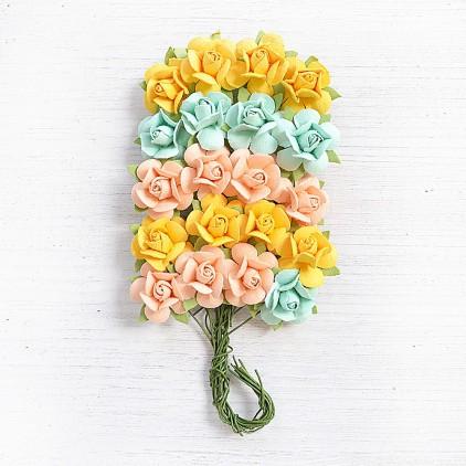 CR79236 scrapbooking flowers - Little Birdie - Catalina Pastel