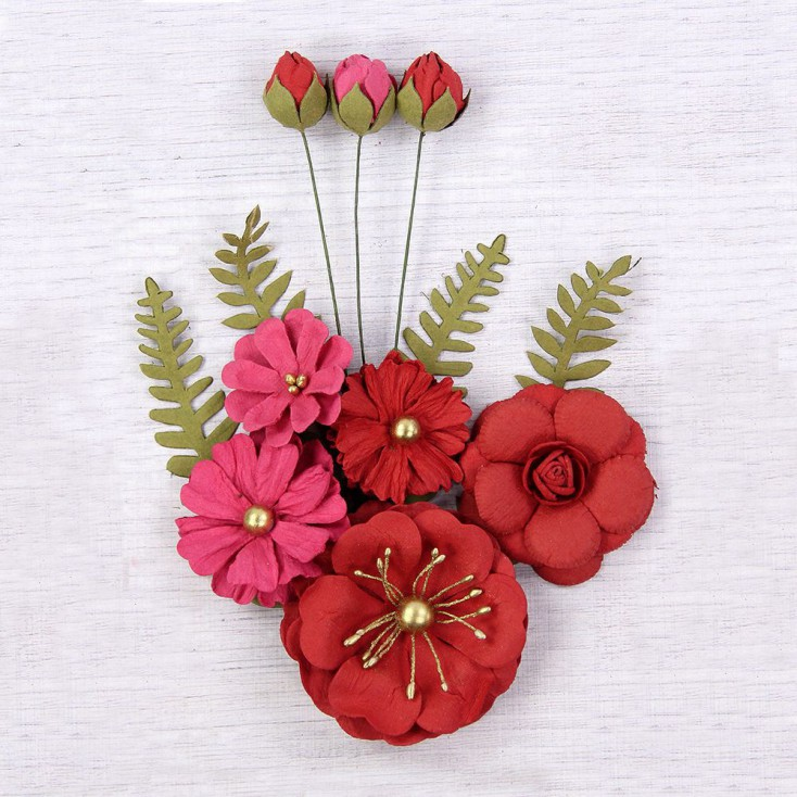 CR62989 scrapbooking flowers - Little Birdie - Lucinda Passion