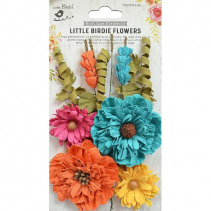 CR69412 scrapbooking flowers - Little Birdie - Elsie Vivid