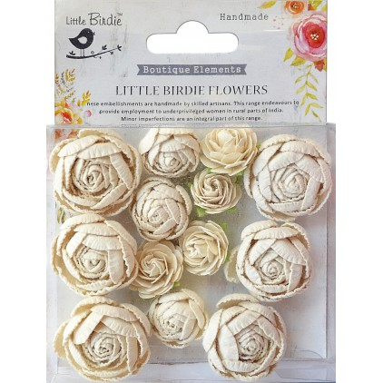 CR69520 scrapbooking flowers - Little Birdie -  English Roses Moon Light