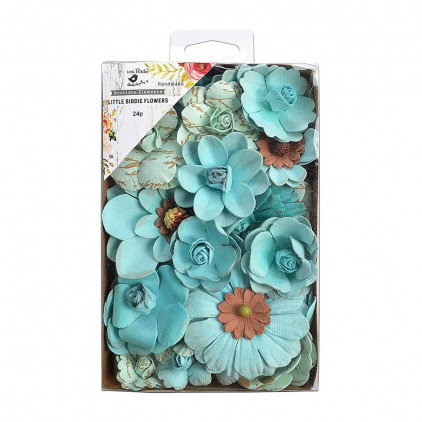CR69059 scrapbooking flowers - Little Birdie - Coral Bouquet Michael