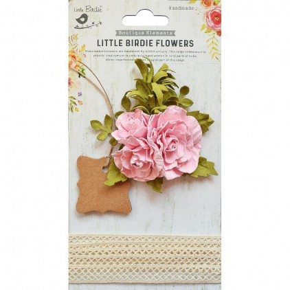 CR76607 scrapbooking flowers and crochet lace - Little Birdie -  Evelynn Pious Pink