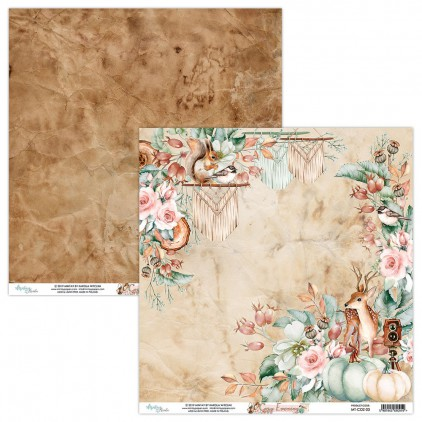 MT-COZ-03 Scrapbooking paper 30 x 30 cm - Cozy Evening - Mintay Papers