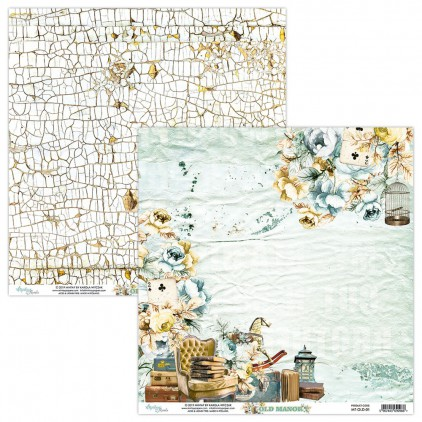 MT-OLD-01 Scrapbooking paper 30 x 30 cm - Old Manor - Mintay Papers