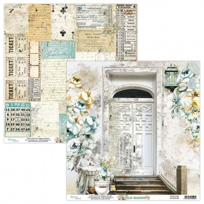 MT-OLD-02 Scrapbooking paper 30 x 30 cm - Old Manor - Mintay Papers