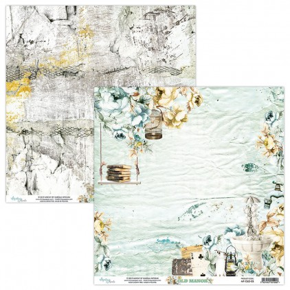 MT-OLD-03 Scrapbooking paper 30 x 30 cm - Old Manor - Mintay Papers