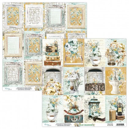 MT-OLD-06 Scrapbooking paper 30 x 30 cm - Old Manor - Mintay Papers