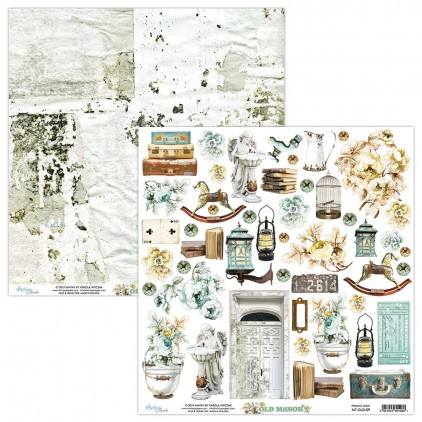 MT-OLD-09 Scrapbooking paper 30 x 30 cm - Old Manor - Mintay Papers