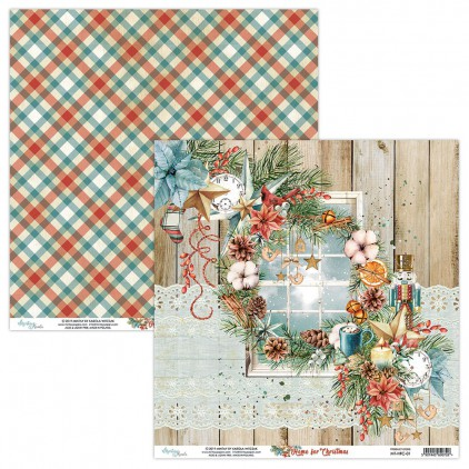 MT-HFC-01 Scrapbooking paper 30 x 30 cm - Home for Christmas- Mintay Papers