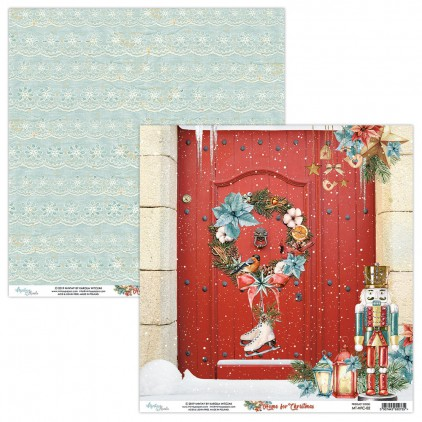 MT-HFC-02 Scrapbooking paper 30 x 30 cm - Home for Christmas- Mintay Papers