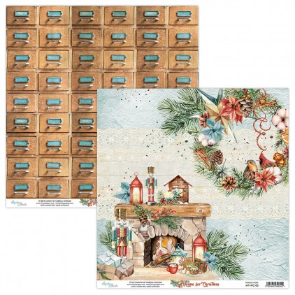 MT-HFC-03 Scrapbooking paper 30 x 30 cm - Home for Christmas- Mintay Papers