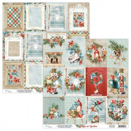 MT-HFC-06 Papier scrapowy 30 x 30 cm - Home for Christmas - Mintay Papers