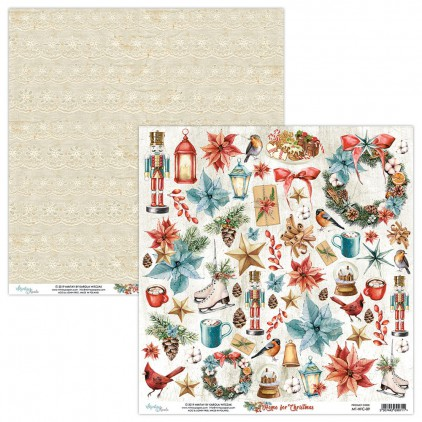 MT-HFC-09 Scrapbooking paper 30 x 30 cm - Home for Christmas- Mintay Papers